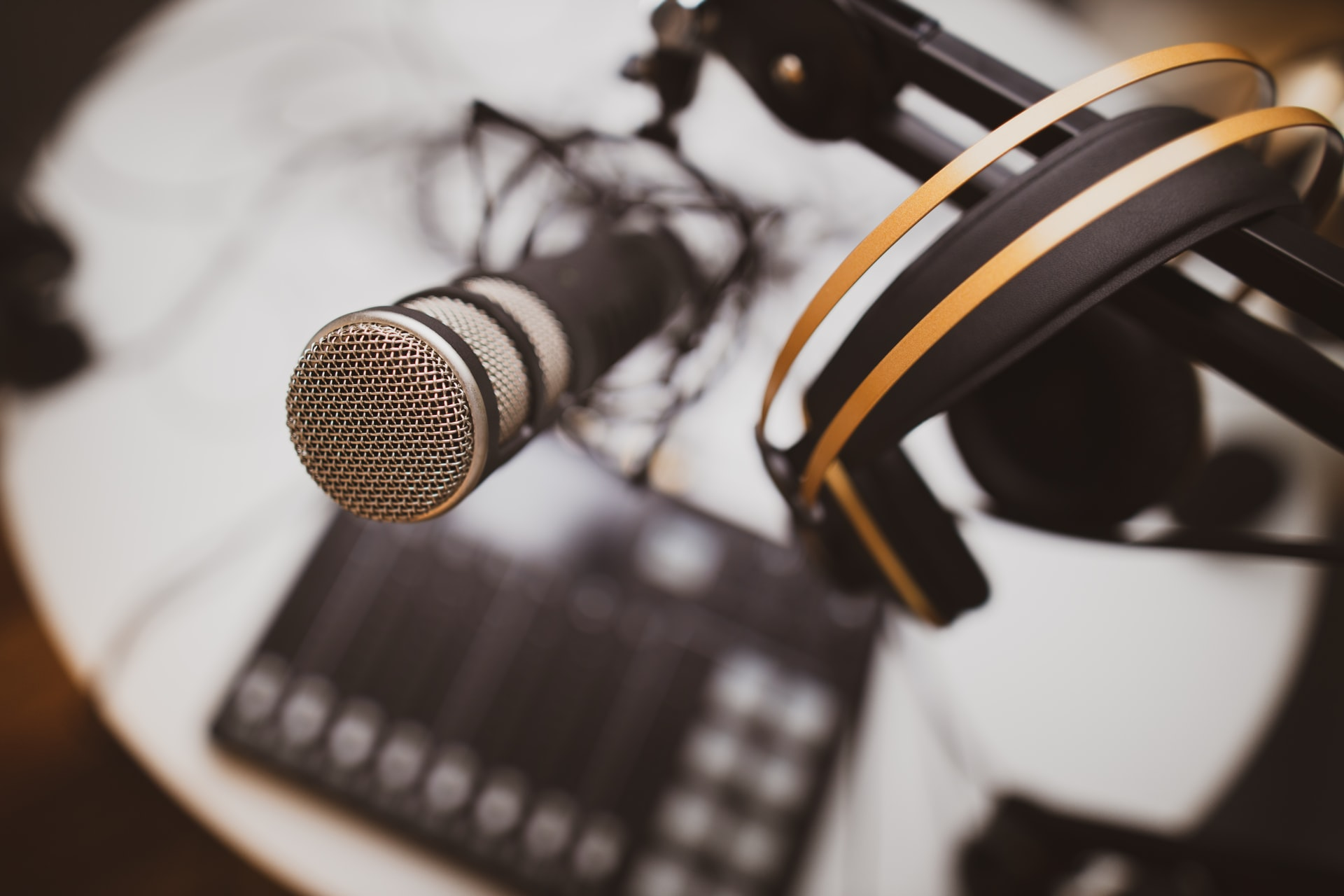 Photo of audio recording setup